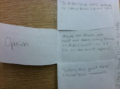 foldable    fact and opinion activity using Time for Kids articles