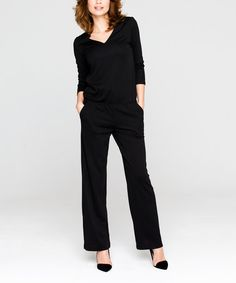Look at this #zulilyfind! Black Jumpsuit #zulilyfinds