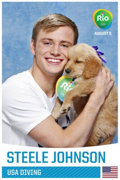 84 Team USA Olympians Posing With Puppies