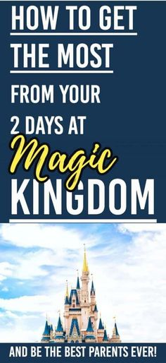 Disney's Magic Kingdom is amazing. Here's how we made it to most of the Magic Kingdom in 2 days. Our plan revealed! How to Get the Most Out Of Your Two Days in the Magic Kingdom. Disney World Florida, Disney Vacation Club, Disney Vacation Planning, Disney World Parks, Disney World Planning, Disney Cruise Line, Disney World Resorts, Disney Vacations, Disney Travel
