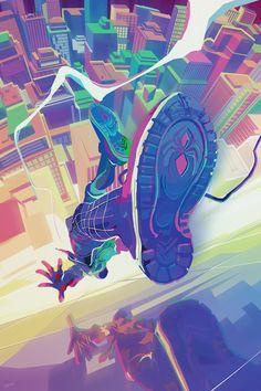 Miles Spiderman, Miles Morales Spiderman, Spiderman Art, Amazing Spiderman, Marvel Art, Marvel Heroes, Marvel Comics, Ms Marvel, Captain Marvel
