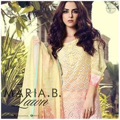 Maria b Summer Lawn Print Dresses 2017 Collection for Women http://www.fashioncluba.com/2017/03/maria-b-summer-lawn-print-dresses-collection.html