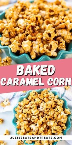 This homemade Caramel Corn has the perfect amount of popcorn to caramel ratio! It's made in your oven, is delicious and perfect for snacking on during family movie night, bringing to parties or making just because you are craving it. Makes a great homemade gift during the holidays too. #caramel #corn Homemade Gifts, Homemade Food, Caramel Corn, Mouth Watering Food, Family Movie Night, Afternoon Snacks, Sugar And Spice, Thanksgiving Recipes, Popcorn