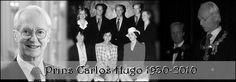 Prins Carlos Hugo de Bourbon de Parme, ex-man van Prinses Irene, is vanmorgen om 8.00 uur overleden in het ziekenhuis van Barcelona
