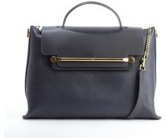 Chloé navy and black leather 'Clare' flap front convertible tote bag on shopstyle.com
