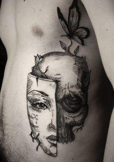 tatuajes joven cabeza