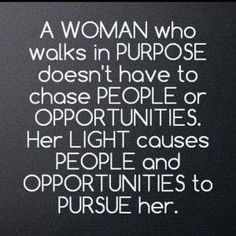 About a woman's pride...
