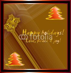 Christmas wishes on baroque background