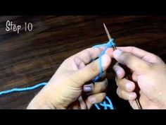 Omg, best tutorial ever! How to use the long tail cast on method to cast on a 1x1 rib pattern.