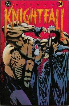 (2nd) Knightfall (There are three books in this series) part 1 :  Broken Bat Knightfall  part 2:  Who Rules the Night part 3:  Knightsend