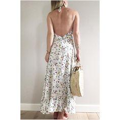 """444 mentions J'aime, 32 commentaires - Estelle (@madeinestel) sur Instagram: """"Je vous présente ma nouvelle robe longue dos nu de chez @delphinemorissette la robe Eugénie.…"""""""