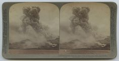 Title: A terrible volcanic explosion - Mont Pelee in Eruption, June 1902, Martinique.   Creator: Unknown   Date: 1902   Part Of: Banks McLaurin, Jr. Stereograph Collection   Series: Series 02: Foreign Views    Place: Saint-Pierre, Martinique   Physical Description: 1 photographic print on stereo card: stereograph, gelatin silver; 9 x 18 cm         File: ag2000_1296_02_d09_pelee_06_terrible_opt.jpg   Rights: Please cite DeGolyer Library, Southern Methodist University when using this file. A…