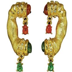 reproduction dali telephone earrings from dali museum