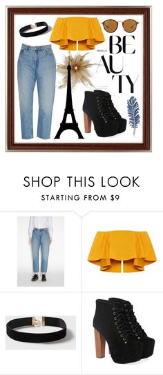 """""""The city of love"""" by katrine-bulow ❤ liked on Polyvore featuring beauty, Monki, Dorothy Perkins, Jeffrey Campbell and Ray-Ban"""