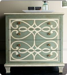 Painted Furniture Trends: Trending Painting Techniques 7 Painted Furniture Trends: Trending Painting Techniques - tutorials, videos and tips. for new matte, gold, spray paint, chalk paint and gloss paint trends. Furniture Projects, Furniture Makeover, Home Furniture, Dresser Makeovers, Dresser Ideas, Furniture Design, Bedroom Furniture, Modern Furniture, Antique Furniture