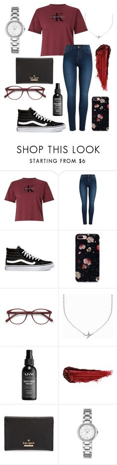 Calvin by daishamiller on Polyvore featuring Calvin Klein, Pieces, Vans, Kate Spade, Anne Klein, Minnie Grace, EyeBuyDirect.com, By Terry and NYX