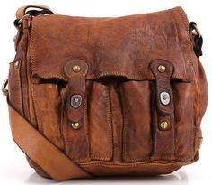 Campomaggi Lavata Shoulder Bag Leather cognac 25 cm - C1240VL-1702 | Designer Brands :: wardow.com