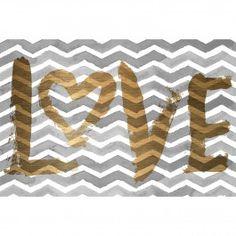 Golden Love Canvas Art
