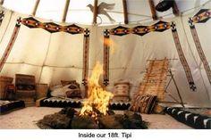 Bilderesultat for tipi interior Native American Teepee, Native American Decor, Native American Pictures, Native American History, Yurt Living, Outdoor Living, Living Spaces, Girls Apartment, American Interior