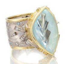 Cornelia Goldsmith aquamarine Glacier ring