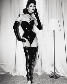 This is so iconic Bettie Paige that I almost can't stand it! Violet is so gorgeous