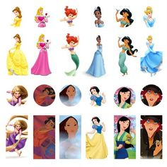 Disney Princess - Bottle Cap Images