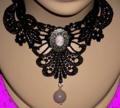 Etsy :: pzcreations22 :: Black Lace Pink Cameo...