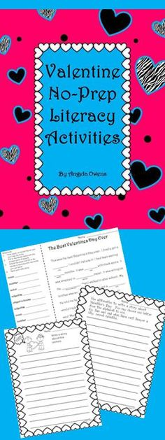 No-Prep literacy activities for Valentine's Day!