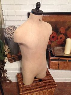 Male Mannequin Table Top Muslin Male Dress by VintageHomeLiving