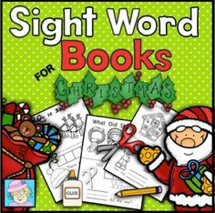 Sight Word Books for Christmas (Paste, Trace, and Write) from TeacherTam on TeachersNotebook.com - (30 pages) - This set of sight word books has students paste, trace, and write each word. It has 3 different books. The following sight words are covered: where, there, what, did, came, and help. $ Repinned by SOS Inc. Resources pinterest.com/sostherapy/.