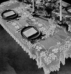 Grapevine Tablecloth Pattern #7045