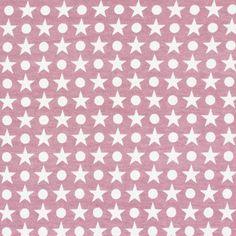 Jersey Stars Dots 1 - Coton - Élasthanne - vieux rose