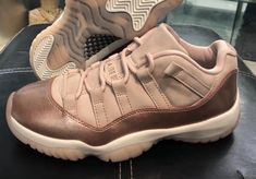 New Images Of The Air Jordan 11 Low GS Rose Gold