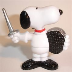 Schleich Snoopy Fencing