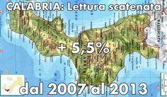 Καλαβρία διδάσκει. CON IL 5,5% E' LA PRIMA REGIONE PER INDICE DI CRESCITA IN ITALIA (fonte Istat). @blogdicultura