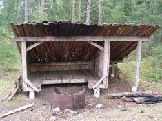 Vindskydd, eldstad och vedförråd