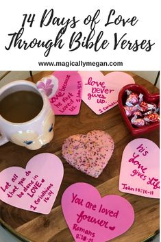 God's Love is the ultimate description of Love. This February celebrate 14 Days of Love through Bible Verses with your kids. My Funny Valentine, Valentines Gifts For Boyfriend, Valentines Day Party, Valentines Day Decorations, Valentines For Kids, Valentine Day Crafts, Family Valentines Dinner, Church Decorations, Bible Verses For Kids