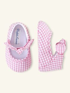 Pink Gingham Flats