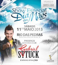 Gabriel Sttuck fará show em homenagem ao dia das mães em Barretos