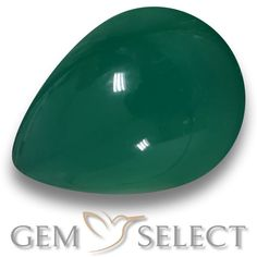 GemSelect features this natural Agate from India. This Green Agate weighs 2.5ct and measures 9.9 x 7.2mm in size. More Pear Cabochon Agate is available on gemselect.com #birthstones #healing #jewelrystone #loosegemstones #buygems #gemstonelover #naturalgemstone #coloredgemstones #gemstones #gem #gems #gemselect #sale #shopping #gemshopping #naturalagate #agate #greenagate #peargem #peargems #greengem #green Green Gemstones, Loose Gemstones, Natural Gemstones, Buy Gems, Gem Shop, Green Agate, Gemstone Colors, Shades Of Green, Stone Jewelry