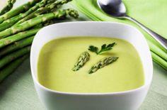 Creamy Potato and Asparagus Soup Sopa Detox, Detox Soup, Creamed Asparagus, Asparagus Recipe, Chili Recipes, Soup Recipes, Vegan Recipes, Yummy Recipes, Sopas Light
