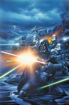 Darth Vader and the 501st Legion fighting against Atoan insurgents.