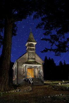 Golden.  This church is in a ghost town in Oregon called Golden. Brian Dierks