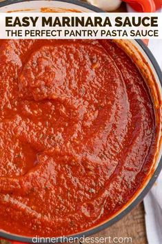 Quick and Easy Marinara Sauce, perfect for your favorite Italian meal. This home.Quick and Easy Marinara Sauce, perfect for your favorite Italian meal. This homemade marinara sauce is done in as little as 15 minutes but perfect in Five d Spaghetti Sauce Easy, Easy Pasta Sauce, Pasta Sauce Recipes Tomato Paste, Red Pasta Sauce, Sauces For Pasta, Best Pasta Sauce Recipe, Italian Spaghetti Sauce, Tomato Sauce Recipe, Spaghetti And Meatballs