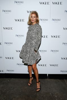 Carolyn Murphy attends The Visionary World of Vogue Italia Exhibition Opening Night presented by Peroni Nastro Azzurro on October 14, 2014 in New York City.
