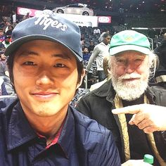 Steven Yeun tweet...father and son in law enjoying some quality time together