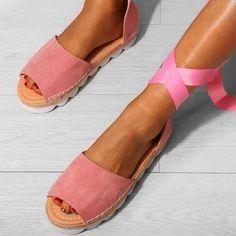 pretty nice 89646 bebb7 Platform Lace-up Summer Sandal Sandal, Lace Up, Platform, Slide Sandals,