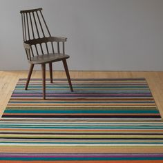 Feel Multi Stripe Flatweave Wool Rug