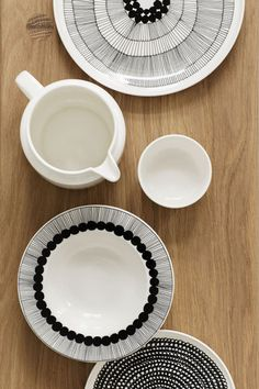 Siirtolapuutarha Dinner Plate Black/White