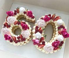 Pasteles en forma de números number cake Cakes in the form of numbers number cake Number Birthday Cakes, 60th Birthday Cakes, Number Cakes, Birthday Ideas, Birthday Cookies, Pretty Cakes, Beautiful Cakes, Alphabet Cake, Cake Lettering